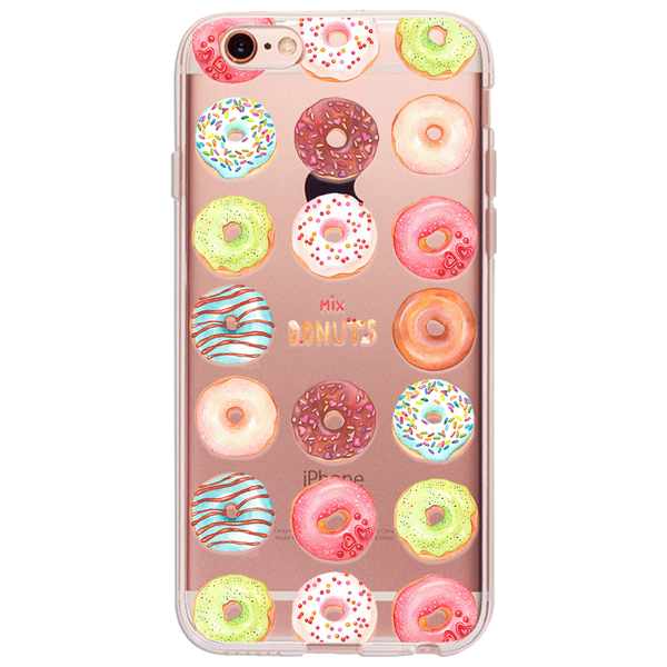 Mix Donuts - Ultra Thin iPhone Clear TPU Case