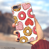 Heart & Donut - Ultra Thin iPhone Clear TPU Case - December12.shop
