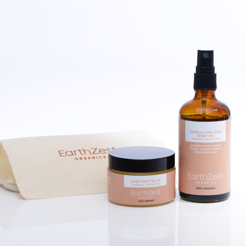 Natural Organic Baby Products Gift Set by EarthZest Organics