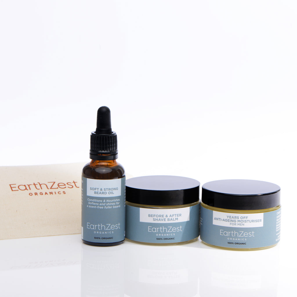 Mens Vegan Skin care Gift Set by EarthZest Organics