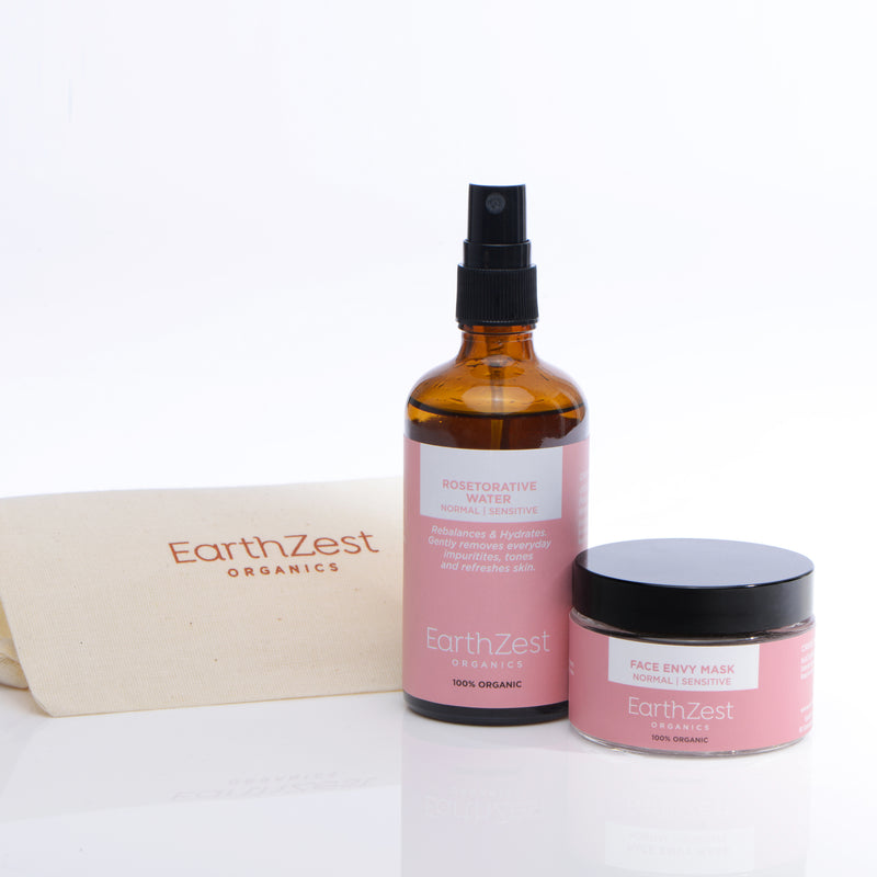 Vegan Organic Face Mask Gift Set by EarthZest Organics