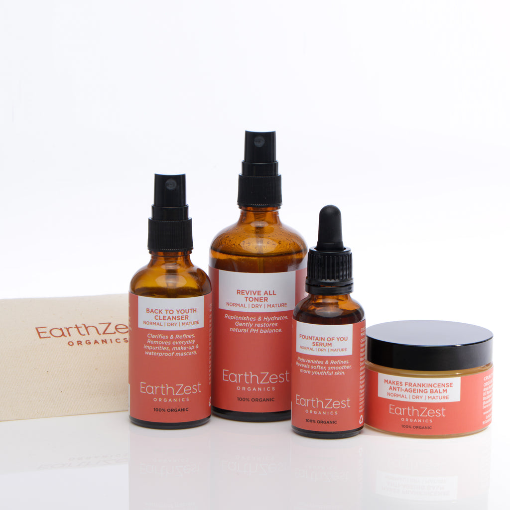 Vegan Skincare Kit for Normal Dry Mature Skin by EarthZest Organics