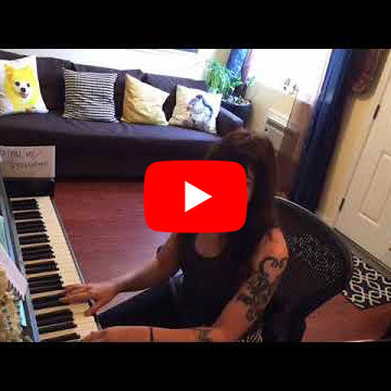 Flychord DP420K digital piano review and piano lesson by Terra Naomi