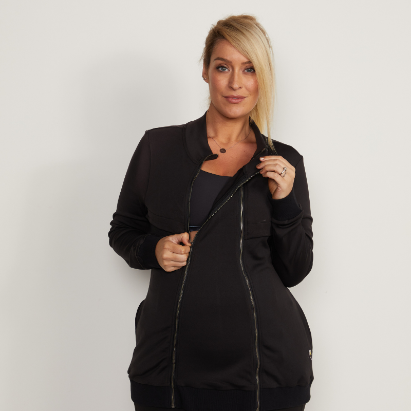 Black Convertible Pregnancy & Breastfeeding Jacket