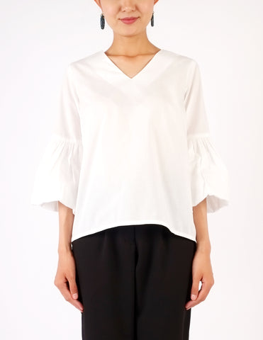 Adele Puff Sleeves Top (White)