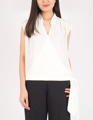 Amy Faux Wrap Top (Ivory)