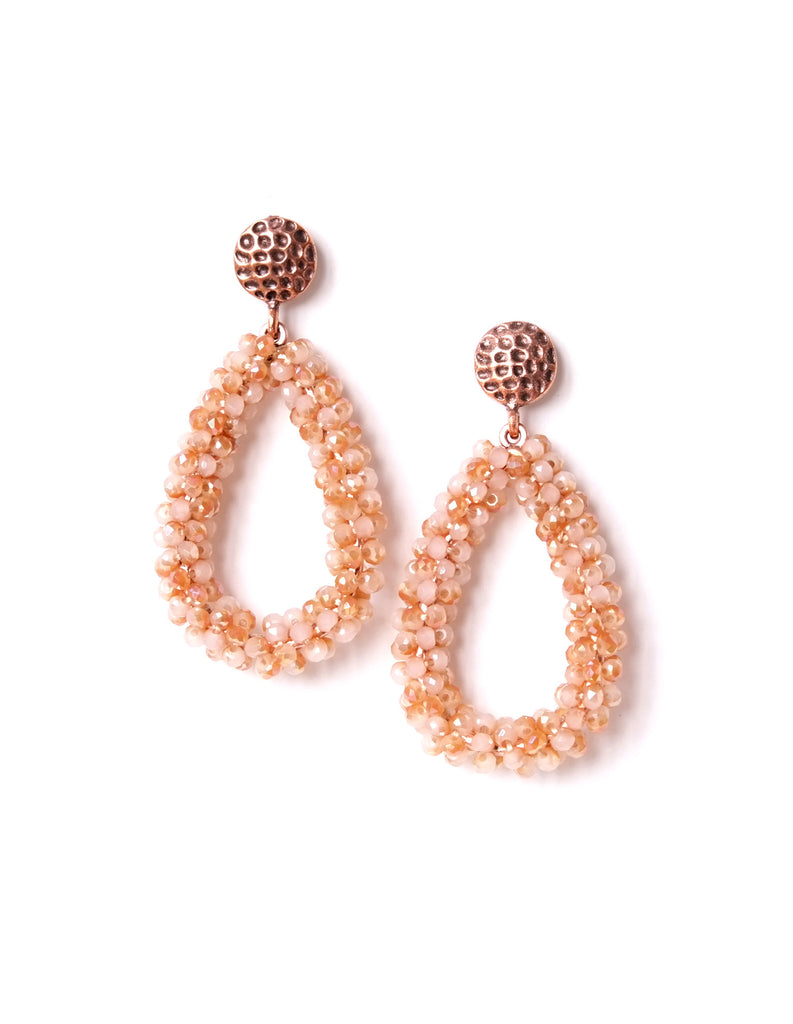 Rachel Beaded Drop Earrings (Colors Available)