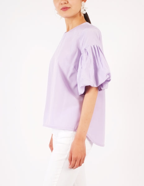 Audrey Puff Sleeves Top (Lilac)