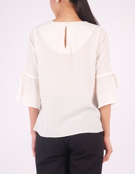 Bettina Flare Sleeves Top (Ivory)