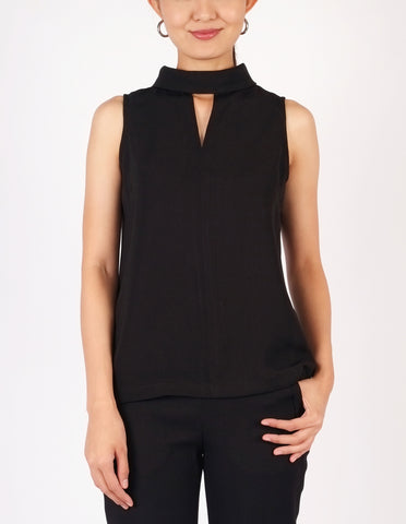 Beverly Choker Style Top (Black)