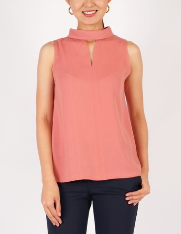 Beverly Choker Style Top (Peach)
