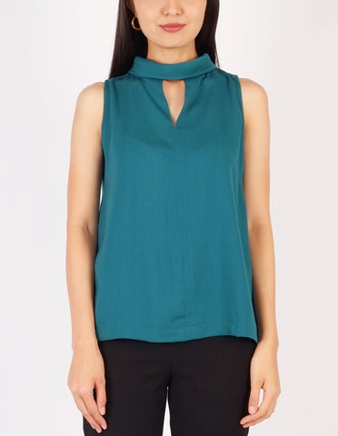 Beverly Choker Style Top (Teal)