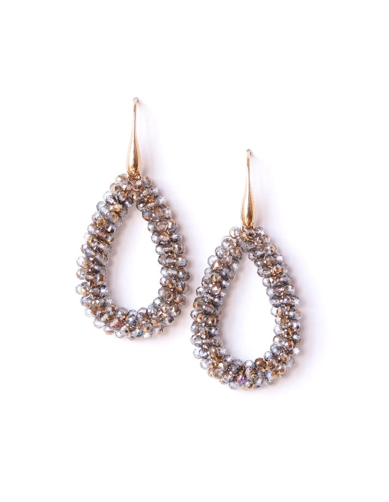 Rae Beaded Drop Dangling Earrings (Colors Available)