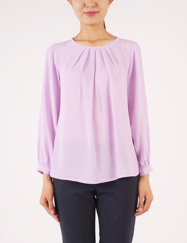 Calla Long Sleeves Top (Lavender)