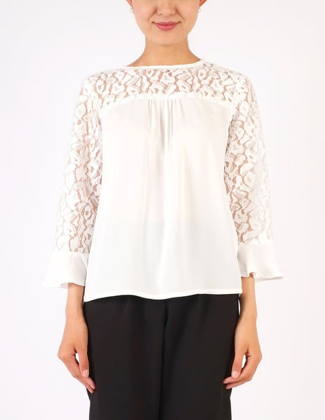 Calliope Lace Panels Top (White)