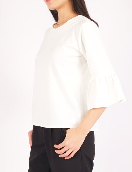 Carisma Bell Sleeves Top (White)