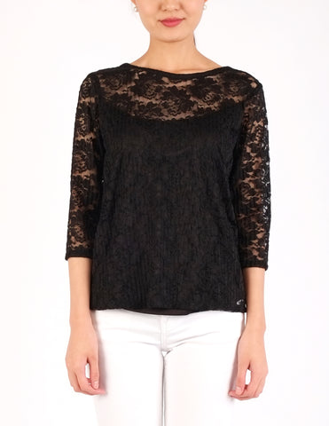 Cathy Lace Top (Black)