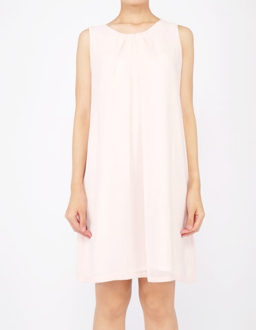 Desi Chiffon Shift Dress (Peach)