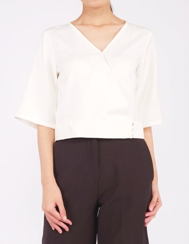 Bo Wrap Front Top (Cream)