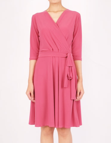 Eira Wrap Dress (Pink)