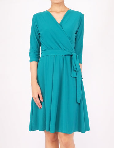 Eira Wrap Dress (Green)