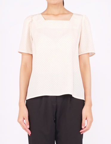 Beatriz Square Neck Top (Dotted)