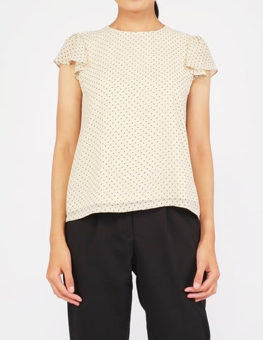 Fifi Flutter Sleeves Top (Dotted)