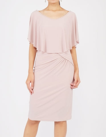 Holly Off-Shoulder Short Dress (Dusty Rose)