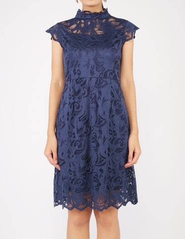 Elayna Lace Sheath Dress (Navy)