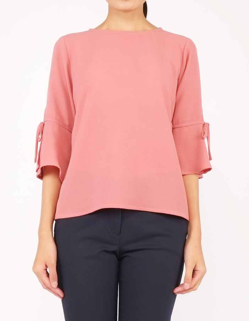Bettina Flare Sleeves Top (Clay)