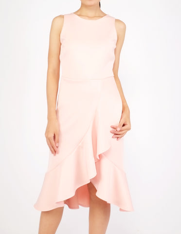 Hedy Wrap Skirt Dress (Peach)