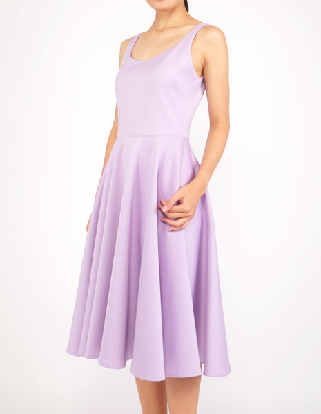 Heily Scoopneck Circle Dress (Lavender)