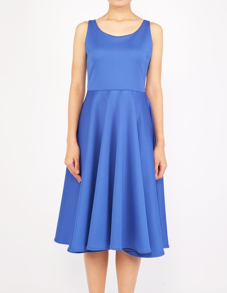 Heily Scoopneck Circle Dress (Royal Blue)