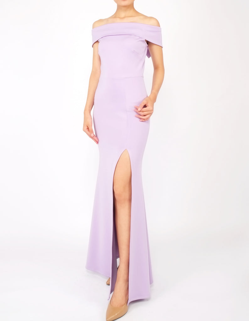Hava Off-Shoulder Gown (Lavender)