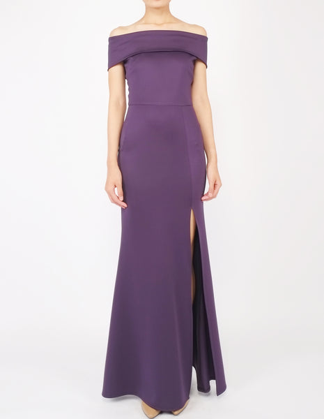 Hava Off-Shoulder Gown (Violet)