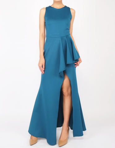 Hye Split Skirt Gown (Teal)
