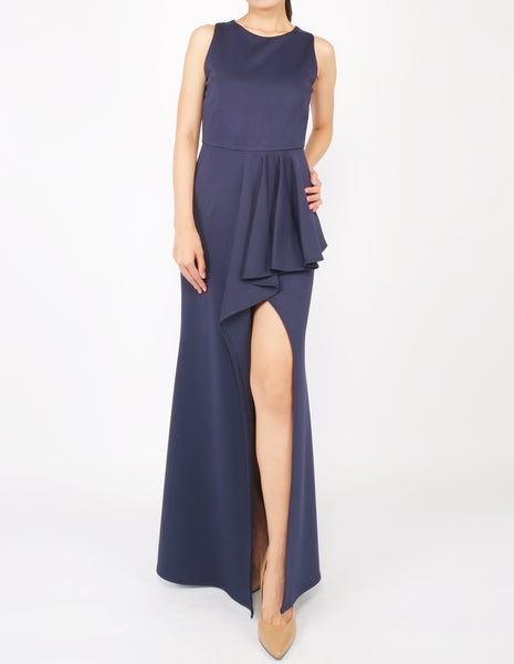 Hye Split Skirt Gown (Navy)