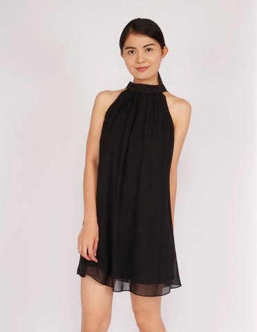 Daniela Halter Tie-Back Dress (Black)