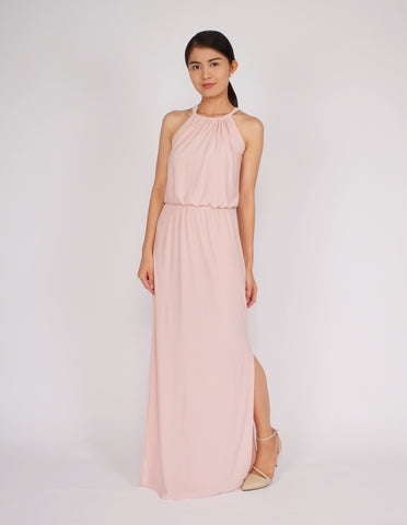 Eliza Maxi Dress (Blush Pink)