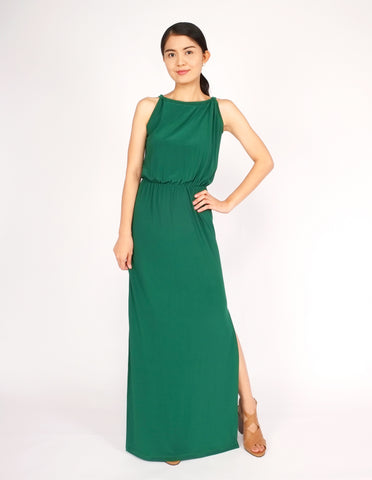 Eliza Maxi Dress (Emerald Green)