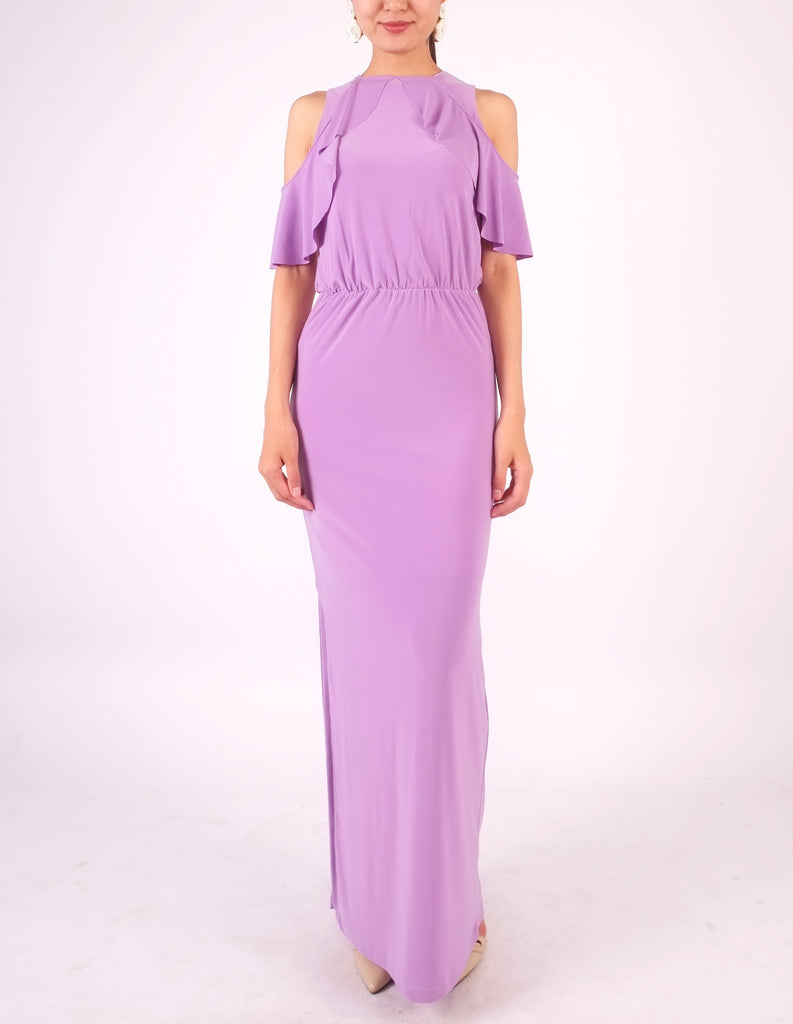 Essie Cold Shoulder Maxi Dress (Lavender)