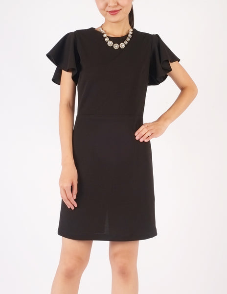 Esther Wide Sleeves Dress (Black)