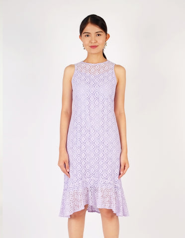 Eva Lavender Midi Dress