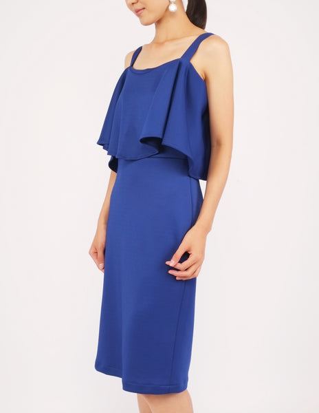 Evonna Popover Dress (Royal Blue)