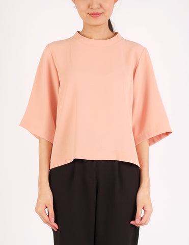 Felice Bell Sleeves Top (Peach)