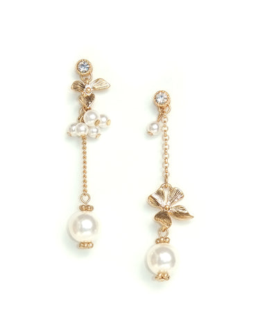 Reese Asymmetric Floral Earrings