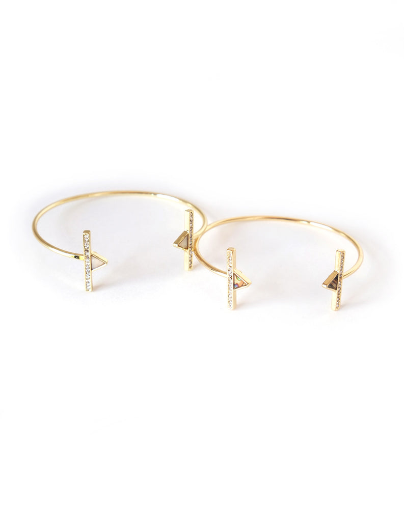 Olivia Delicate Geometric Bangles (Set of 2)