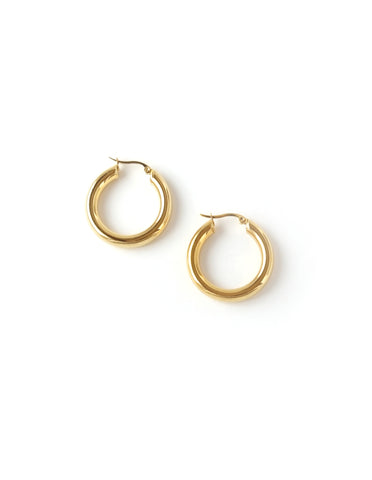 "Essential Gold Hoop Earrings (1.25"")"