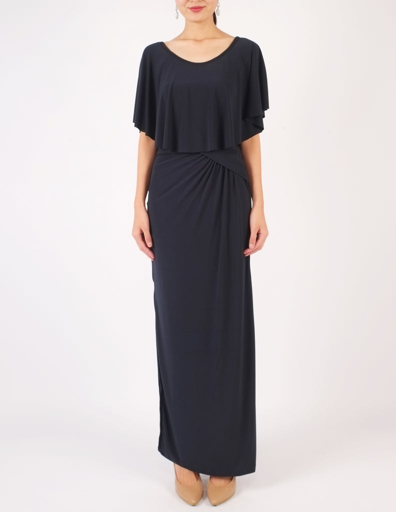Hailey Off-Shoulder Maxi Dress (Navy)