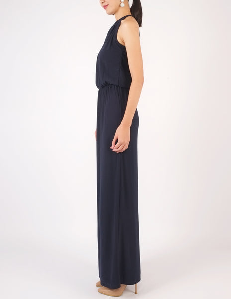 Helen Keyhole Maxi Dress (Navy)
